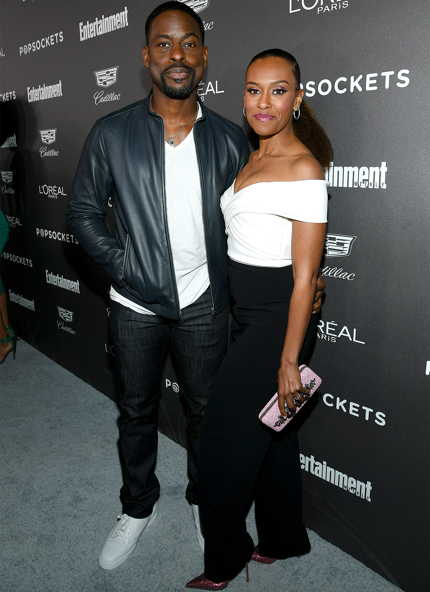 Sterling K. Brown (L) and Ryan Michelle Bathe