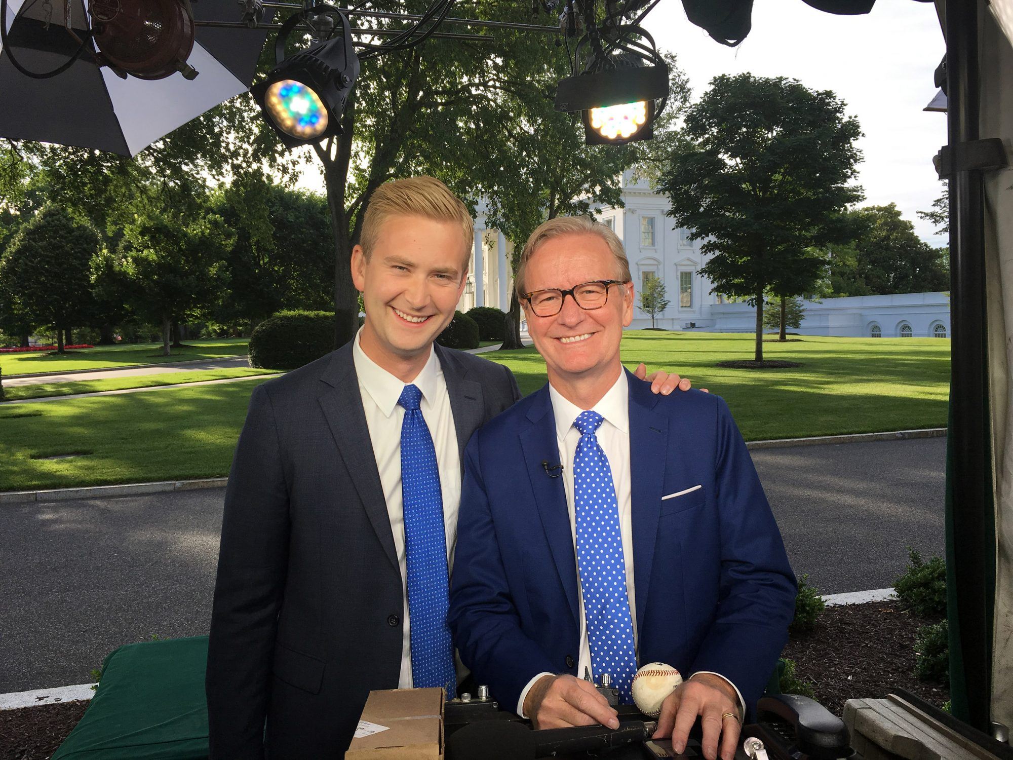 Peter and Steve Doocy White House