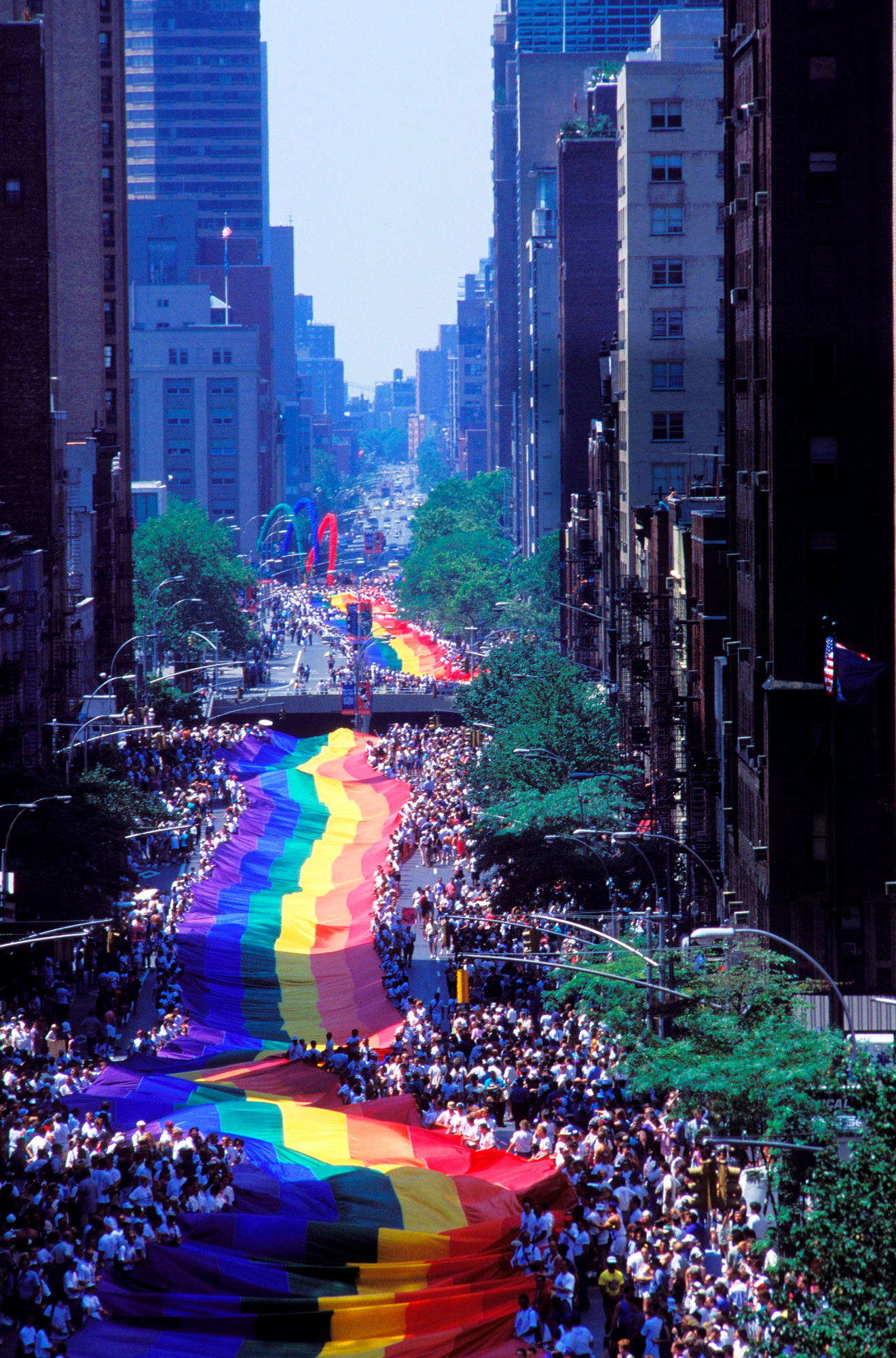 The 25th anniversary of revolt homosexual of Stonewall, bar gay at Greenwich city In New York, United States On June 26, 1994-