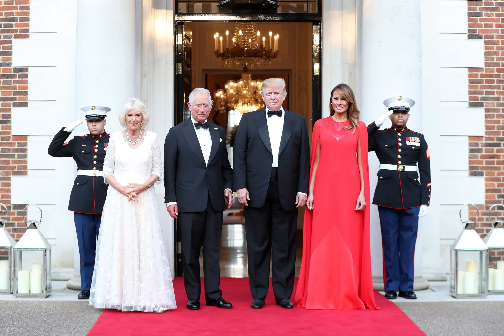 President Donald Trump and First Lady Melania Trump host a dinner at Winfield House for Prince Charles, Prince of Wales and Camilla, Duchess of Cornwall