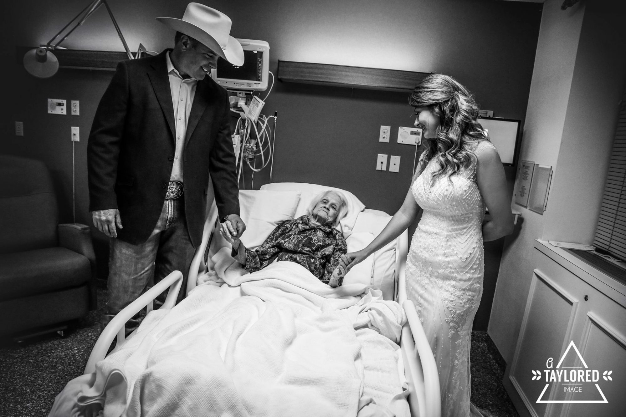 Sky Howard and Clay Cameron got married at the hospital in May so that Clay's 100YO grandma could be involved.