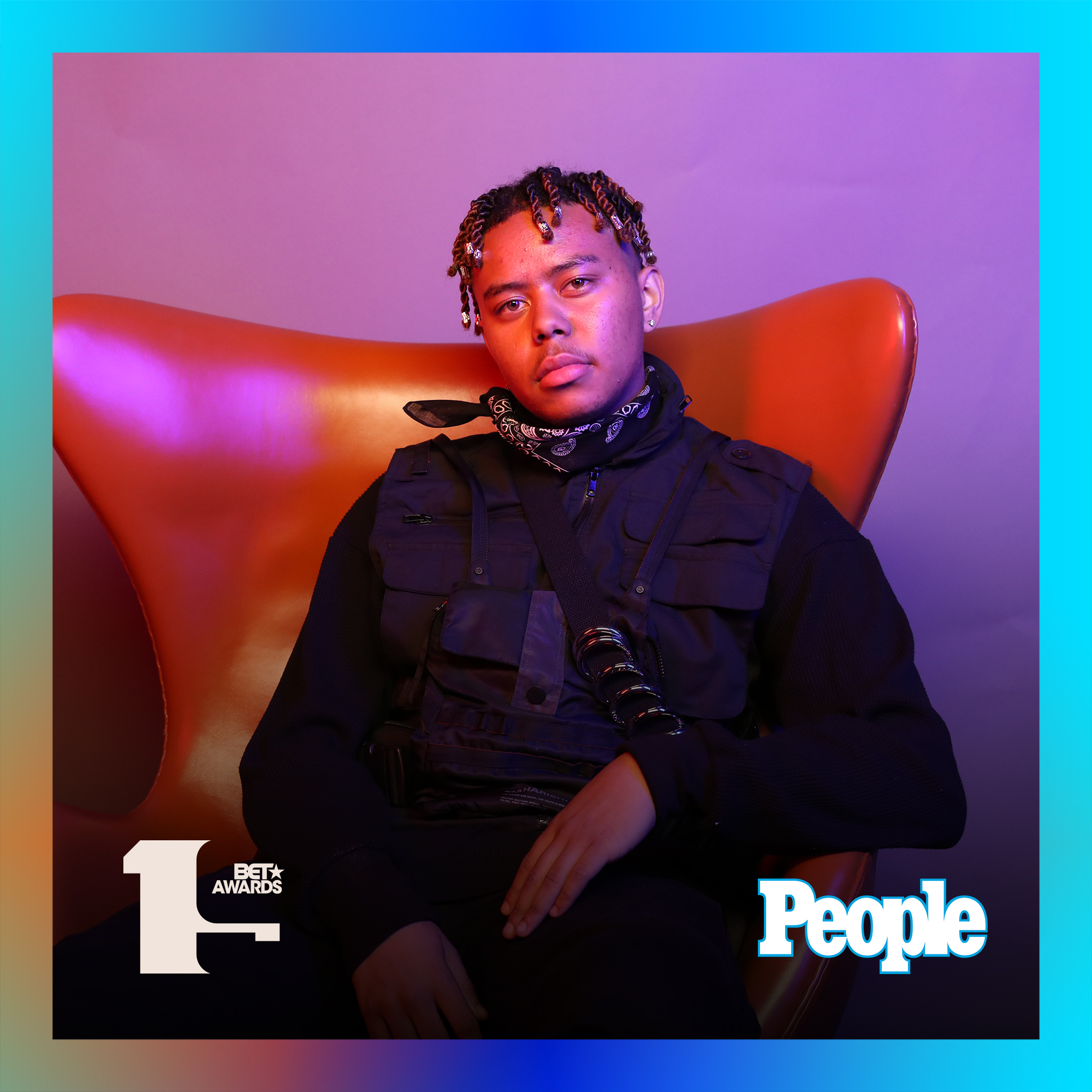 YBN Cordae photographed at the 2019 BET Awards by Bennett Raglin exclusively for PEOPLE Credit: Bennett Raglin