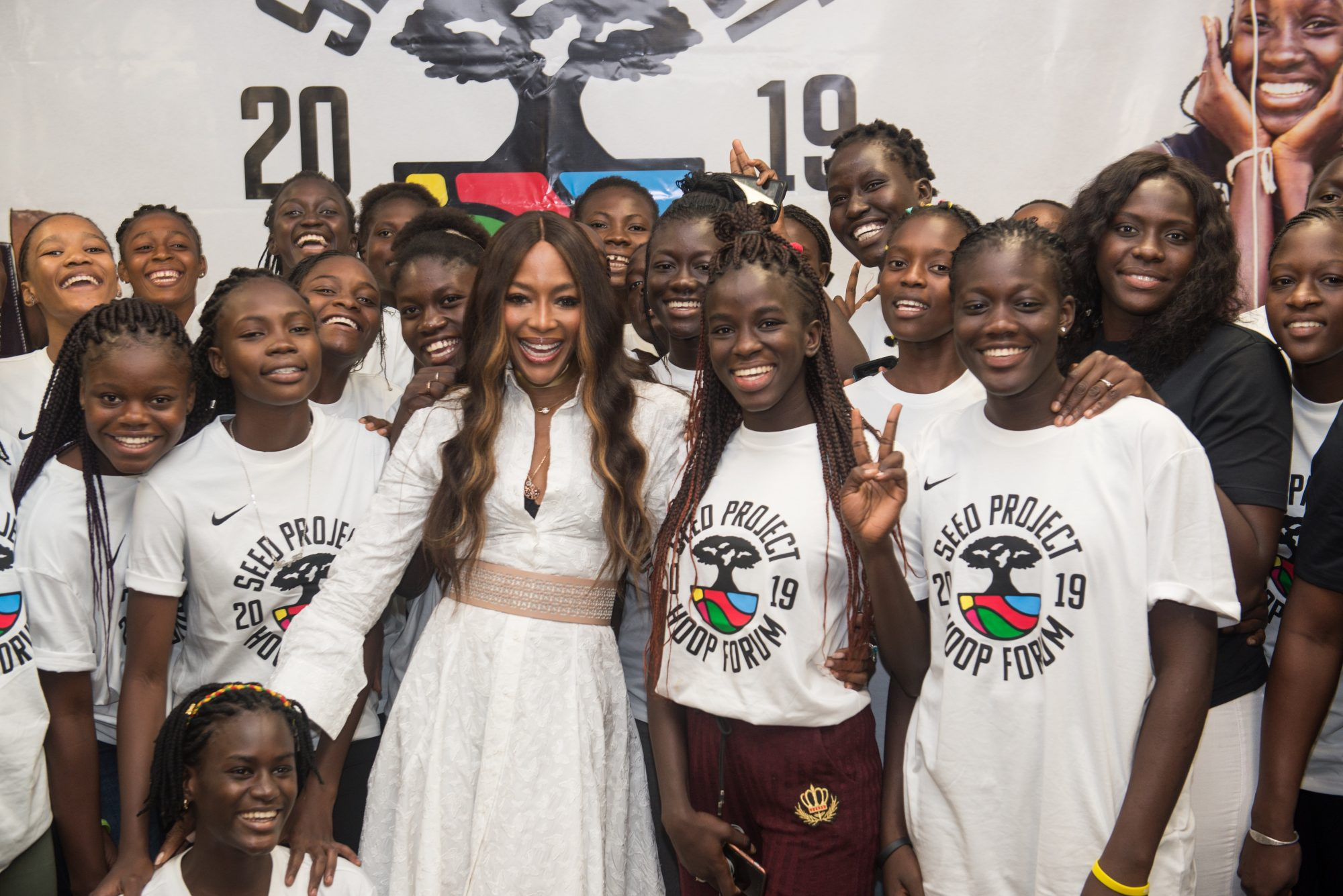 Naomi Campbell Attends The Seed Project Hoop Forum 2019