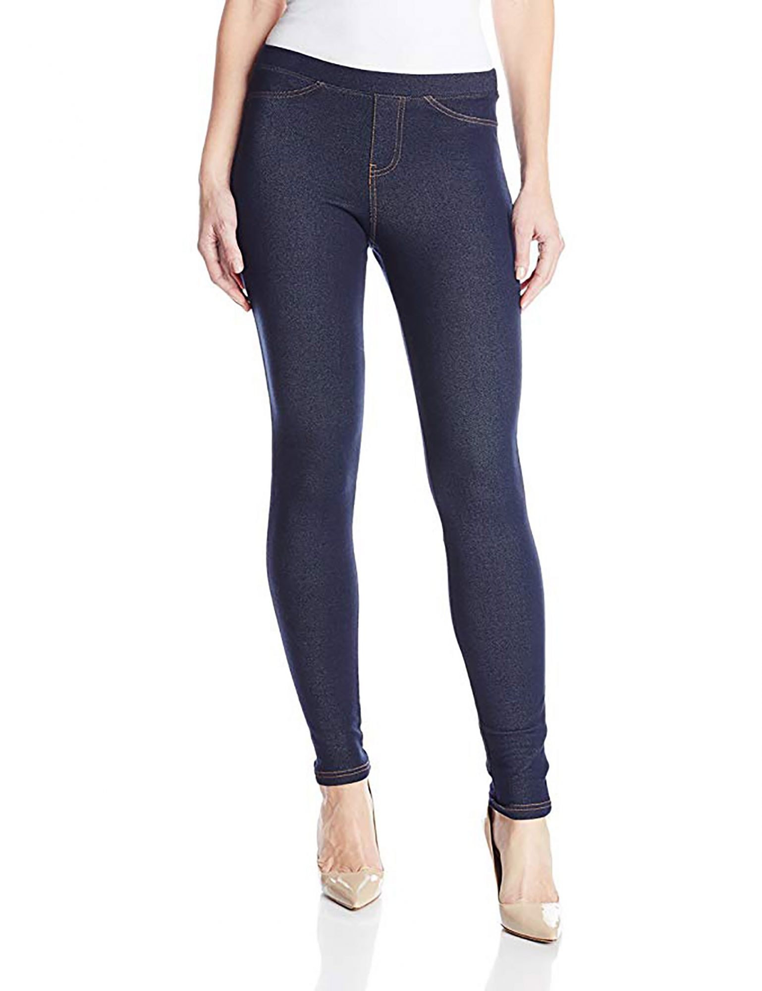 No Nonsense Women's Denim Leggings with Pockets