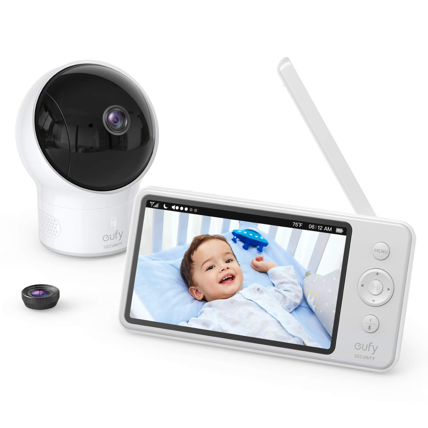 Baby Monitor, eufy Security Video Baby Monitor, 720p HD Resolution, Ideal for New Moms, 5'' LCD Display, 110° Wide-Angle Lens Included