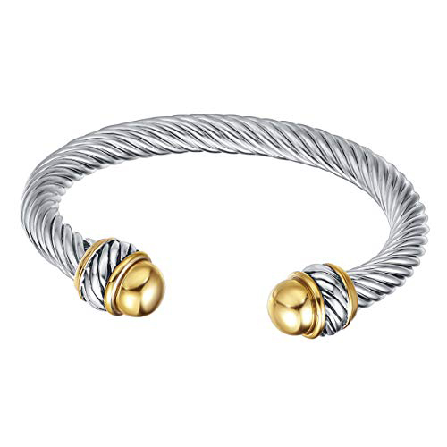 UNY Cable Wire Cuff Bangle