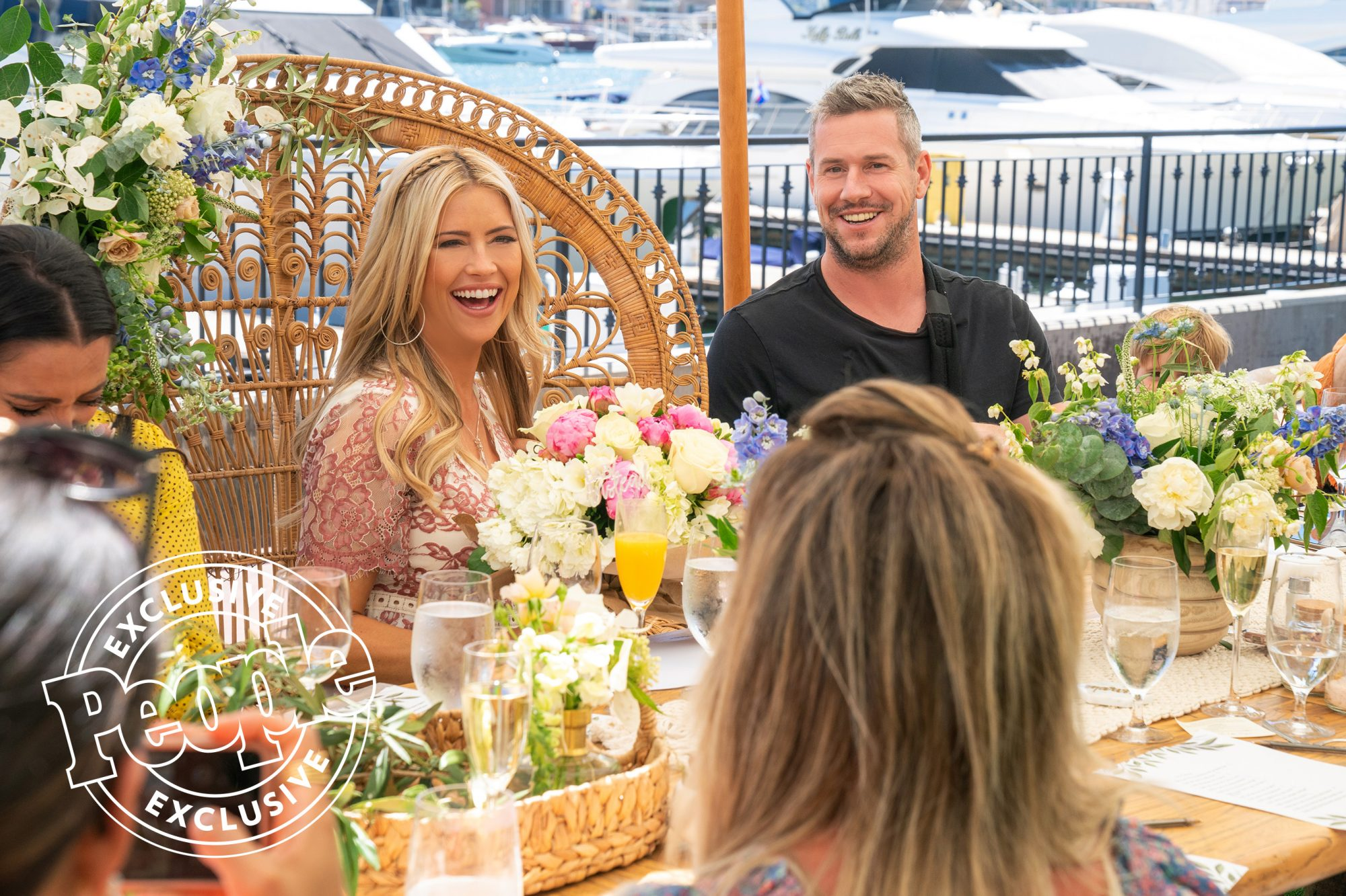 Christina Anstead celebrates her baby shower with friends and family in Newport Beach, CA., as seen on Christina on the Coast.