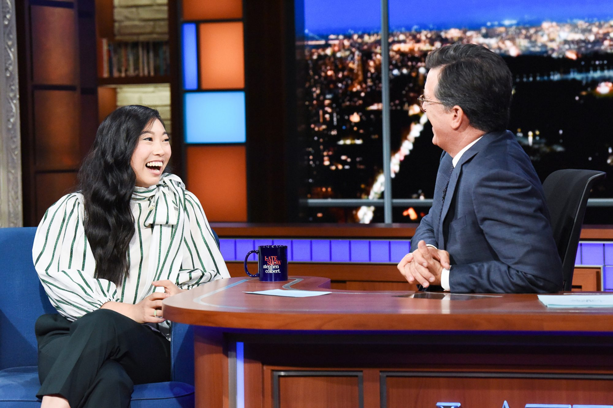 Awkwafina The Late Show with Stephen Colbert