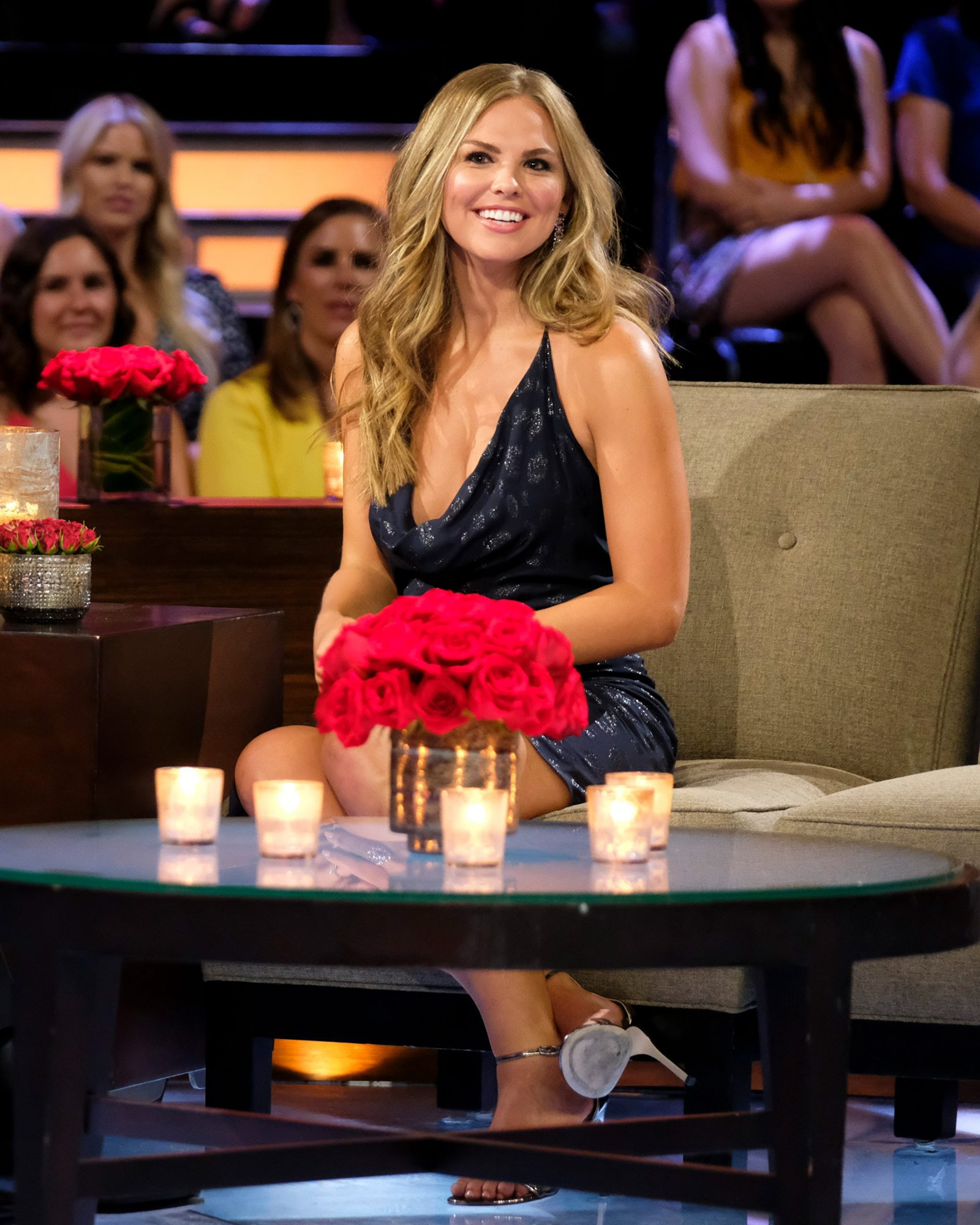 """THE BACHELORETTE: THE MEN TELL - """"The Men Tell All"""" - Luke P.'s stunning final standoff in Greece is revealed; and then, the controversial bachelor will take the hot seat opposite Chris Harrison to give his side of the story. The other men, fired up by Luke P.'s self-defense, explode into the vitriolic outburst they have been holding back all season long. The other most memorable bachelors - including Brian, Cam, Connor S., Daron, Devin, Dustin, Grant, Dylan, Garrett, John Paul Jones, Jonathan, Luke S., Matt, Matteo, Mike and Ryan -- return to confront each other and Hannah one last time to dish the dirt, tell their side of the story and share their emotional departures. Finally, as the clock ticks down on Hannah's journey to find love, a special sneak peek of her dramatic final week with Jed, Peter and Tyler C. is featured on """"The Bachelorette: The Men Tell All,"""" MONDAY, JULY 22 (8:00-10:01 p.m. EDT), on ABC. (ABC/John Fleenor) HANNAH BROWN"""