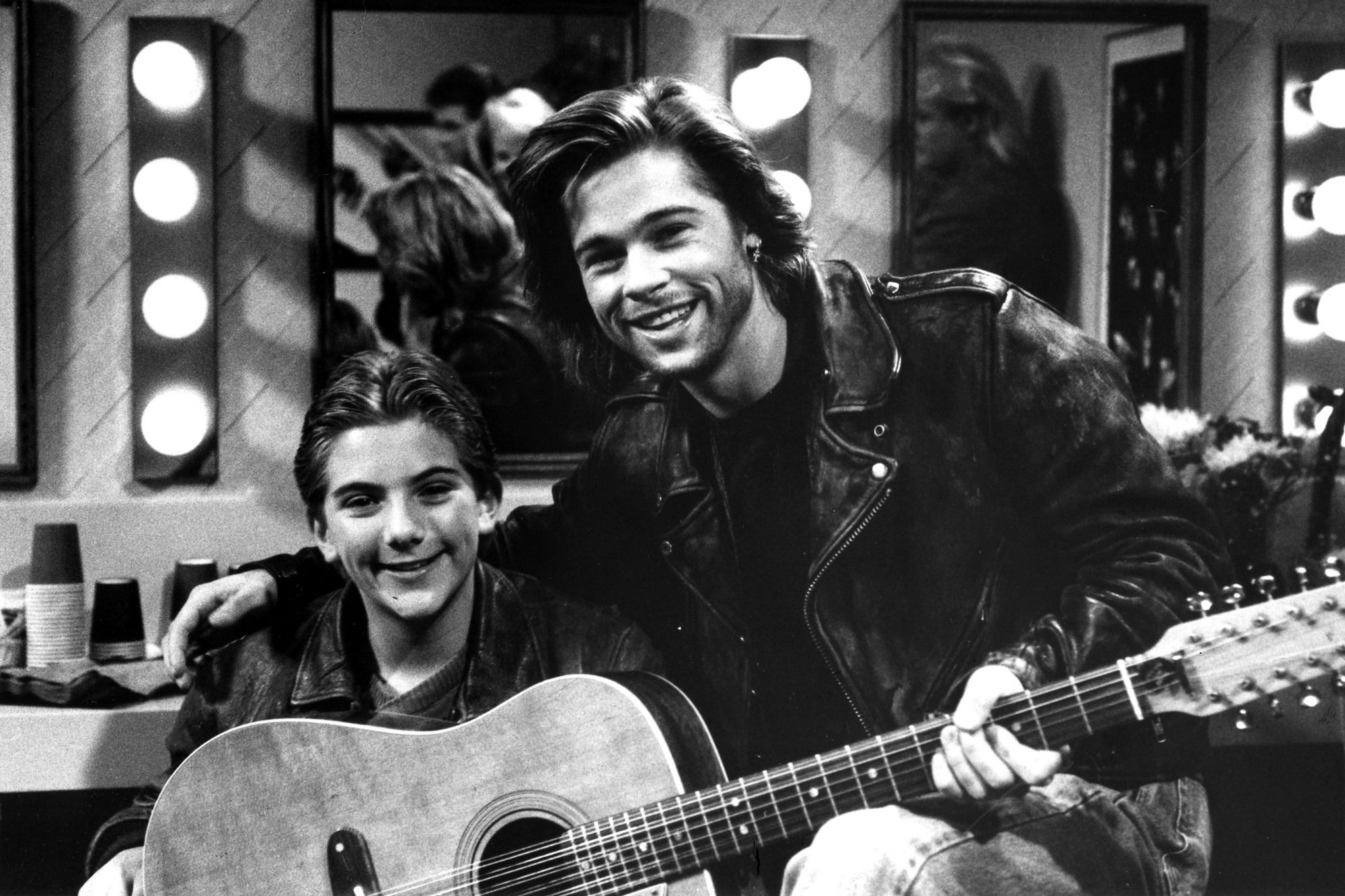 "UNITED STATES - FEBRUARY 08: GROWING PAINS - ""Feet of Clay"" - Season Four - 2/8/89, Ben (Jeremy Miller) met his favorite rock musician, Jonathan Keith (guest star Brad Pitt)., (Photo by Walt Disney Television via Getty Images Photo Archives/Walt Disney Television via Getty Images)"