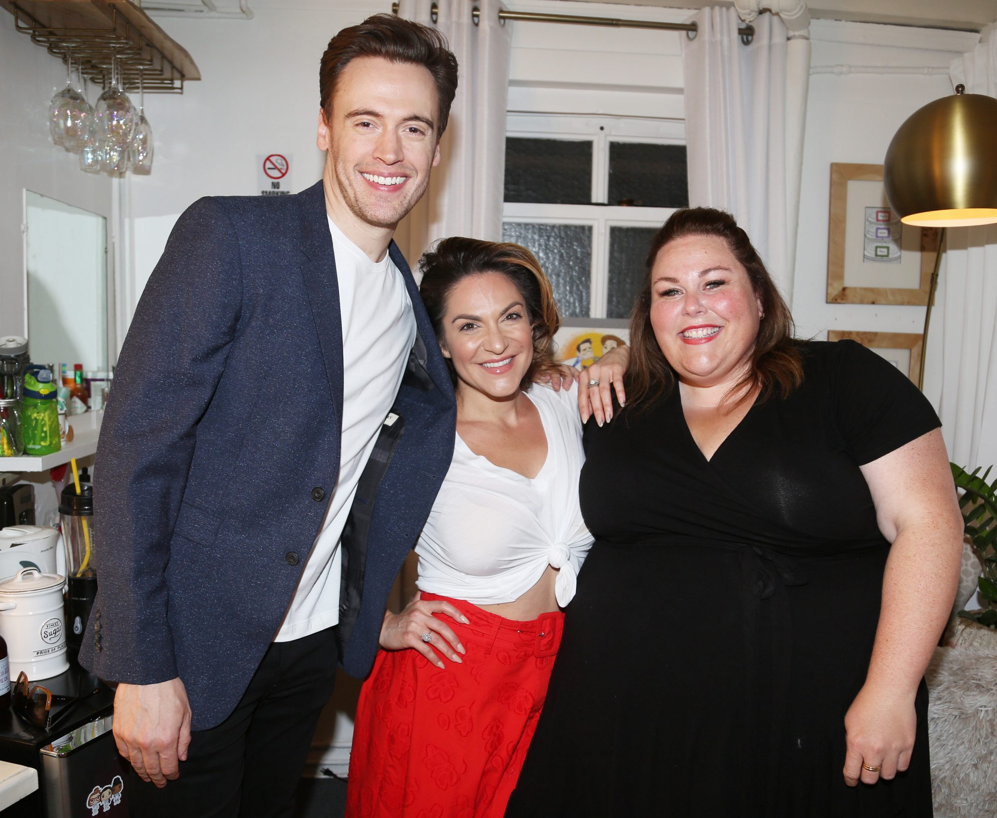 Chrissy Metz Visits Shoshana Bean and Erich Bergen