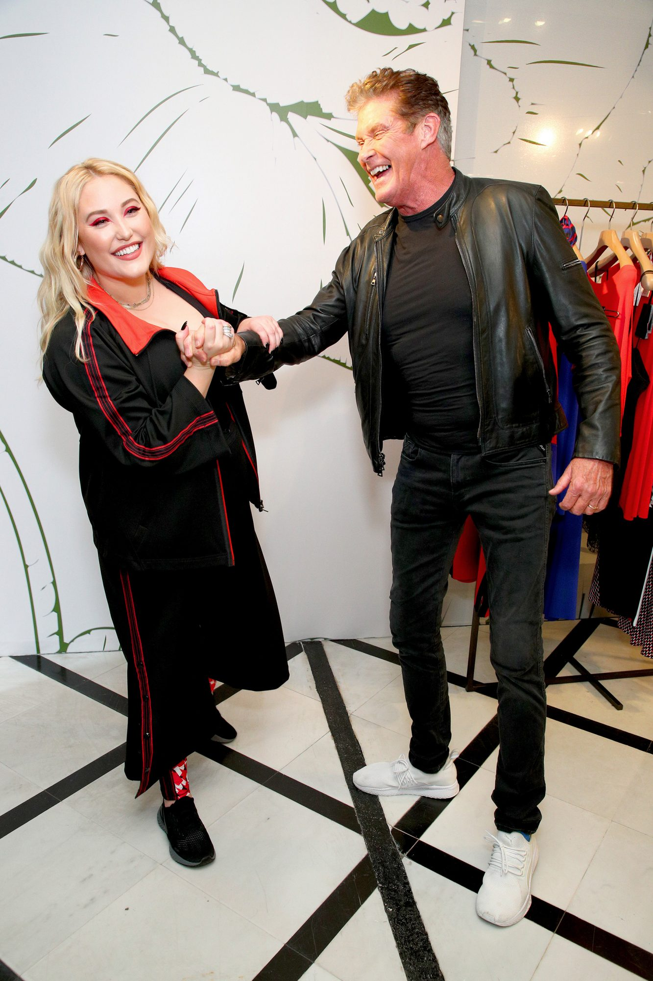 Hayley Hasselhoff and David Hasselhoff