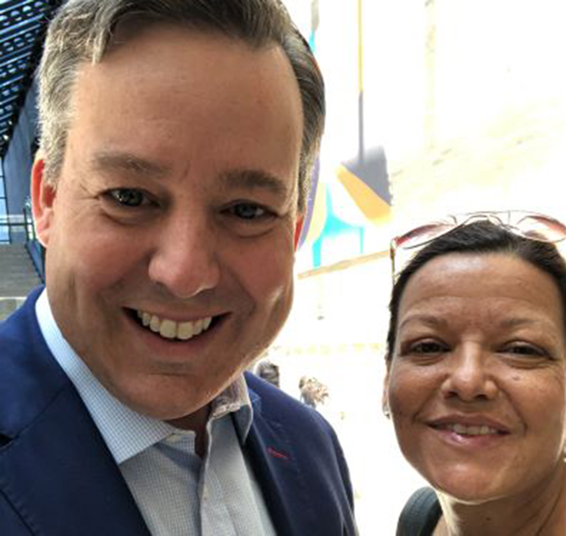 Ed Henry and Colleen