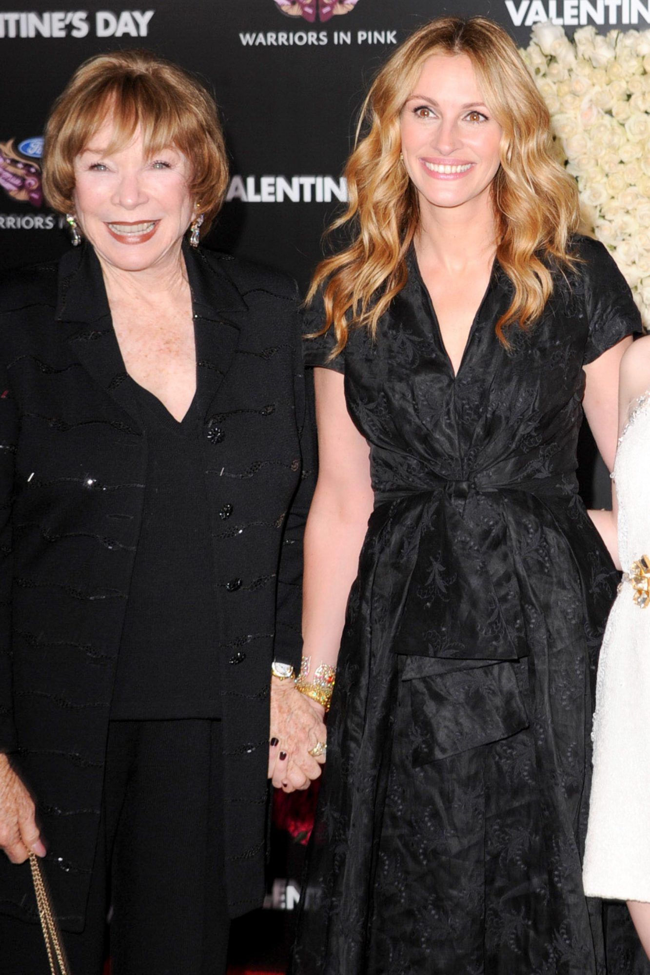 """HOLLYWOOD - FEBRUARY 08: Shirley Maclaine and Julia Roberts and Emma Roberts attends the """"Valentine's Day"""" Los Angeles Premiere at Grauman's Chinese Theatre on February 8, 2010 in Hollywood, California. (Photo by Steve Granitz/WireImage)"""