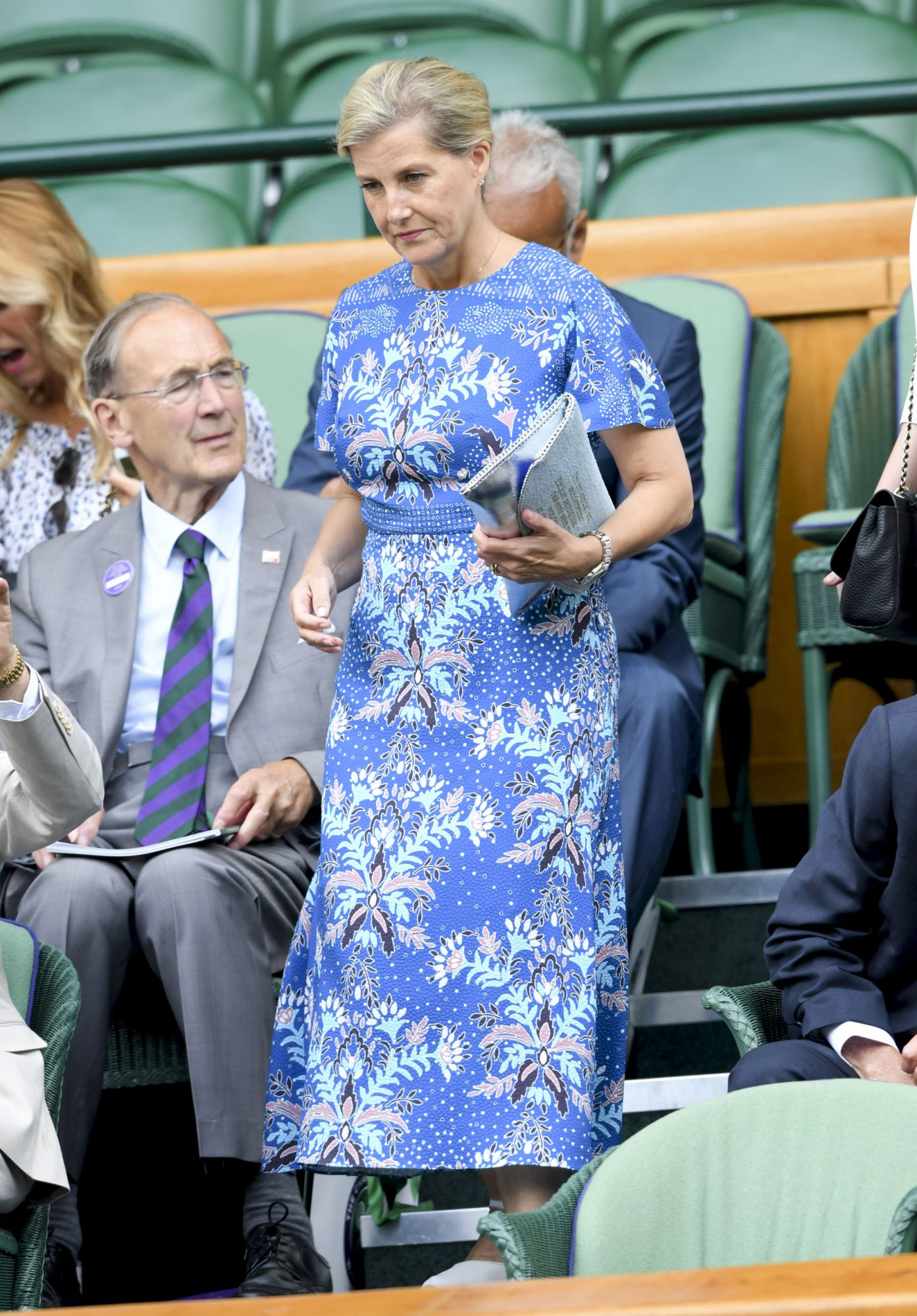 LONDON, ENGLAND - JULY 10: Sophie, Countess of Wessex attends day nine of the Wimbledon Tennis Championships at All England Lawn Tennis and Croquet Club on July 10, 2019 in London, England. (Photo by Karwai Tang/Getty Images)