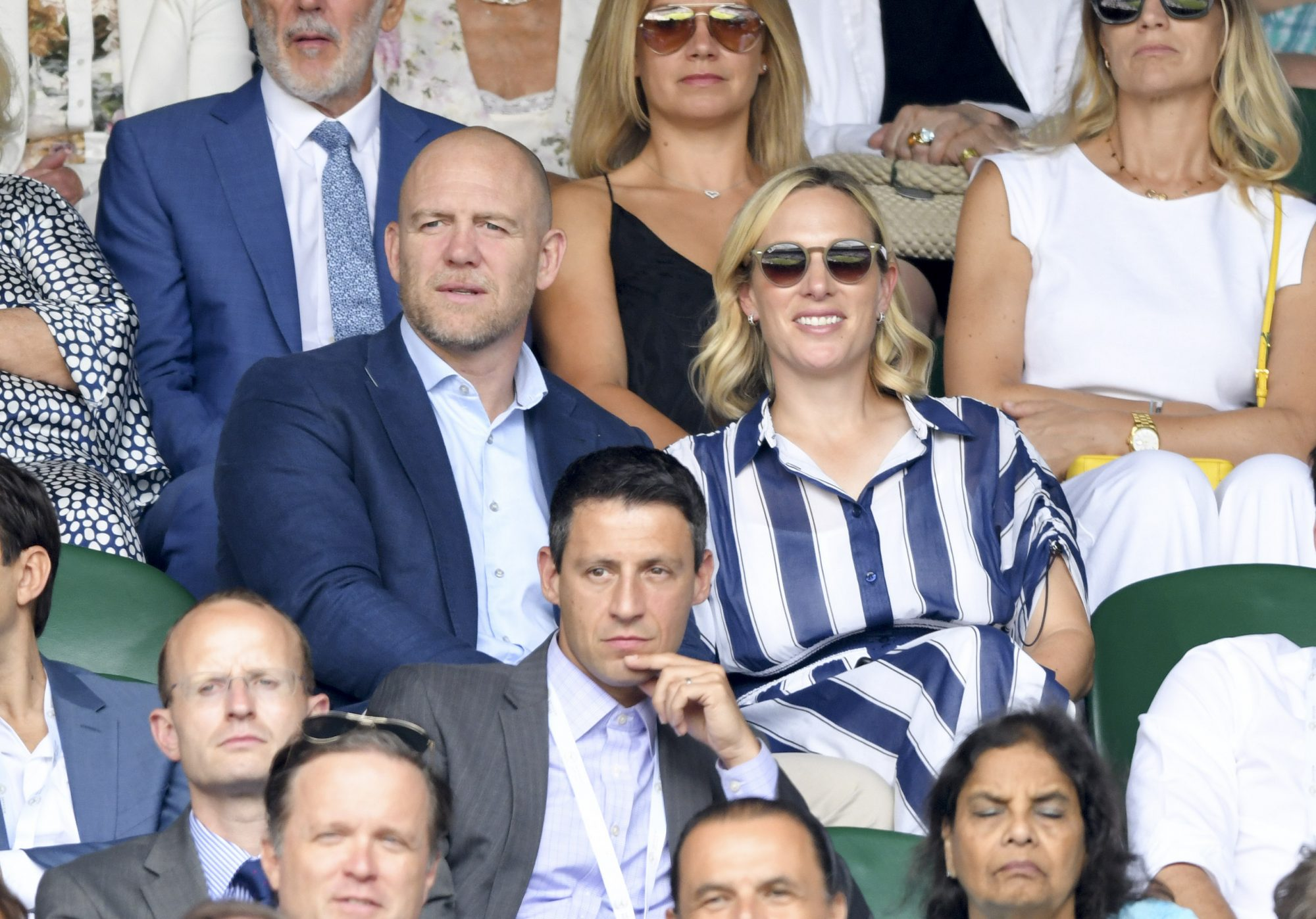 LONDON, ENGLAND - JULY 10: Mike Tindall and Zara Phillips attend day nine of the Wimbledon Tennis Championships at All England Lawn Tennis and Croquet Club on July 10, 2019 in London, England. (Photo by Karwai Tang/Getty Images)