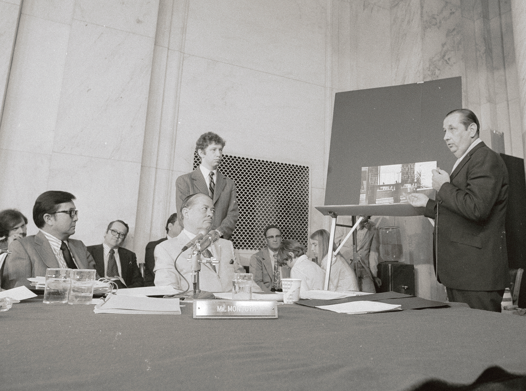 Anthony Ulasewicz Addressing Watergate Committee