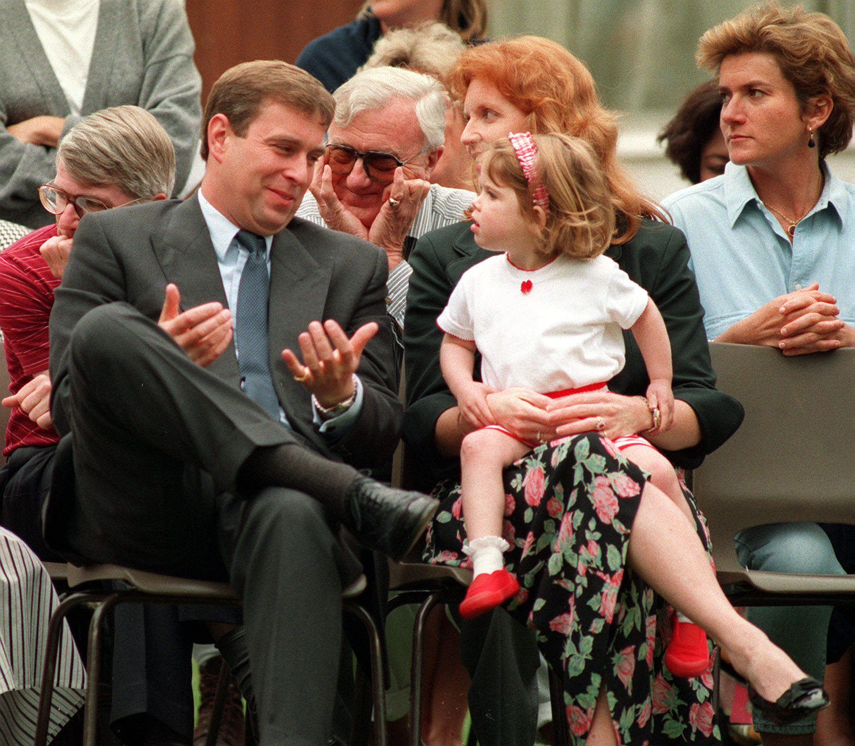 The Duke and Duchess of York attend the school sports day with Princess Eugenie