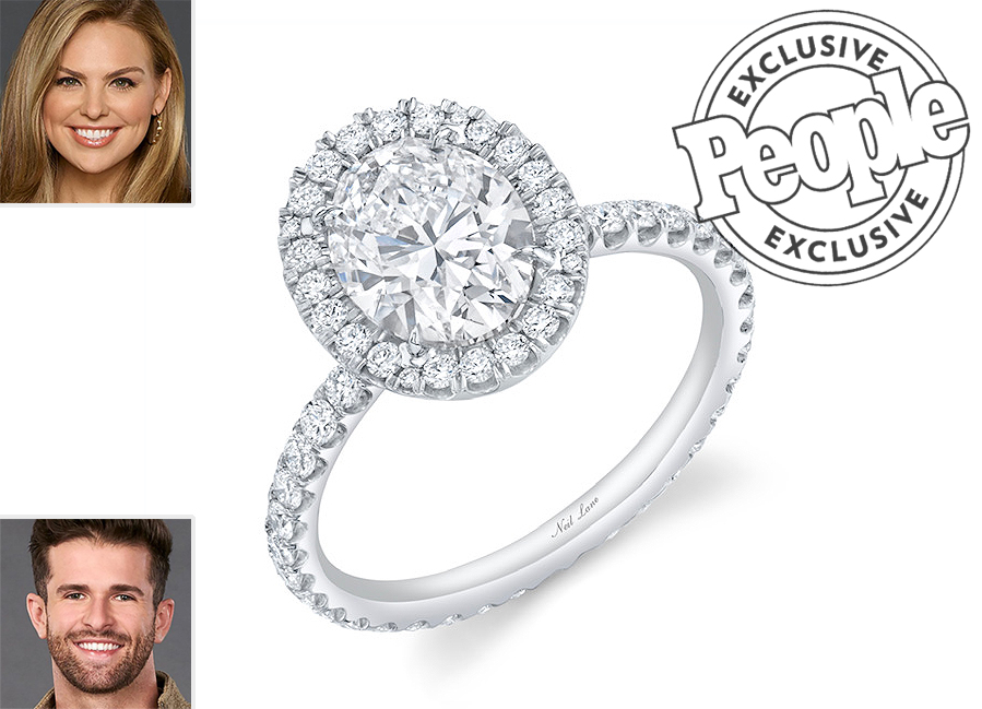 Hannah and Jed; Bachelorette Finale Engagement Ring Exclusive