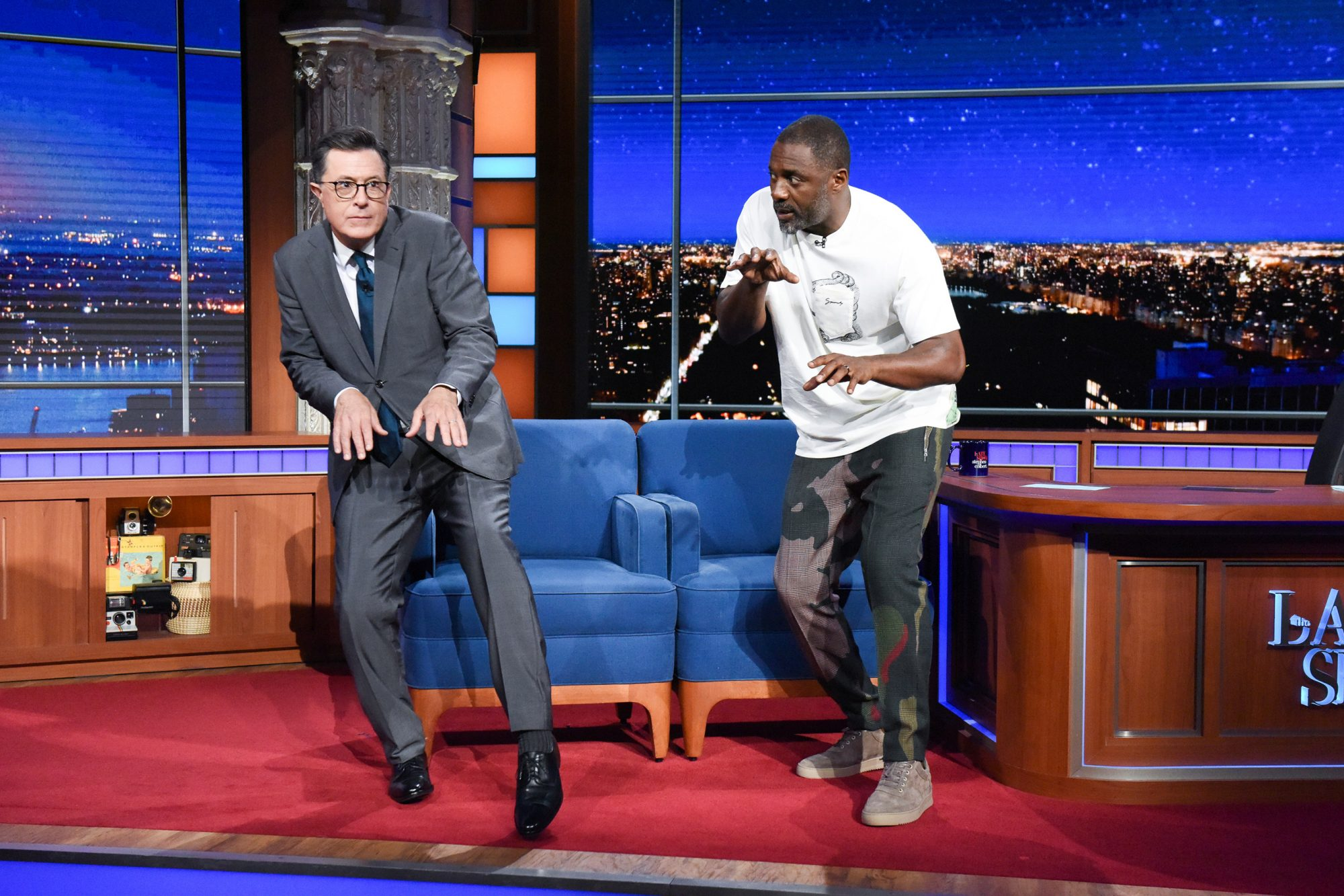 The Late Show with Stephen Colbert and guest Idris Elba