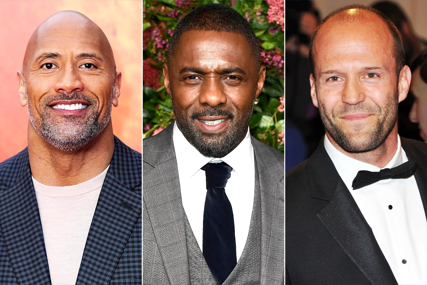 Dwayne Johnson, Idris Elba and Jason Statham