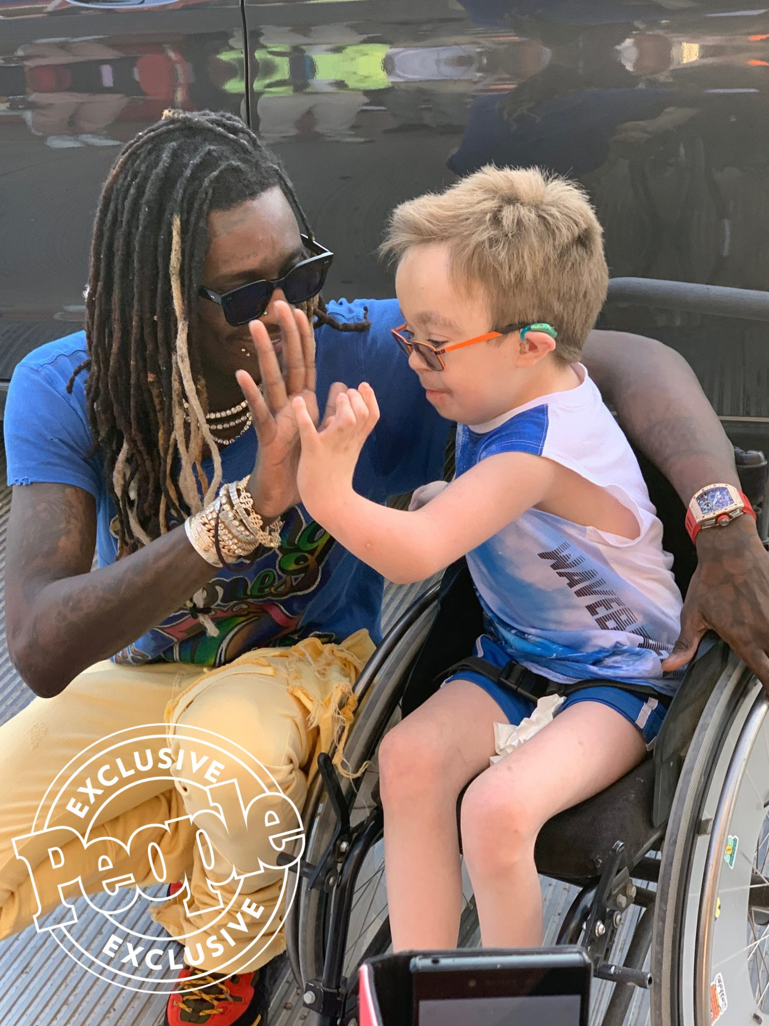 Young Thug and fan Steven