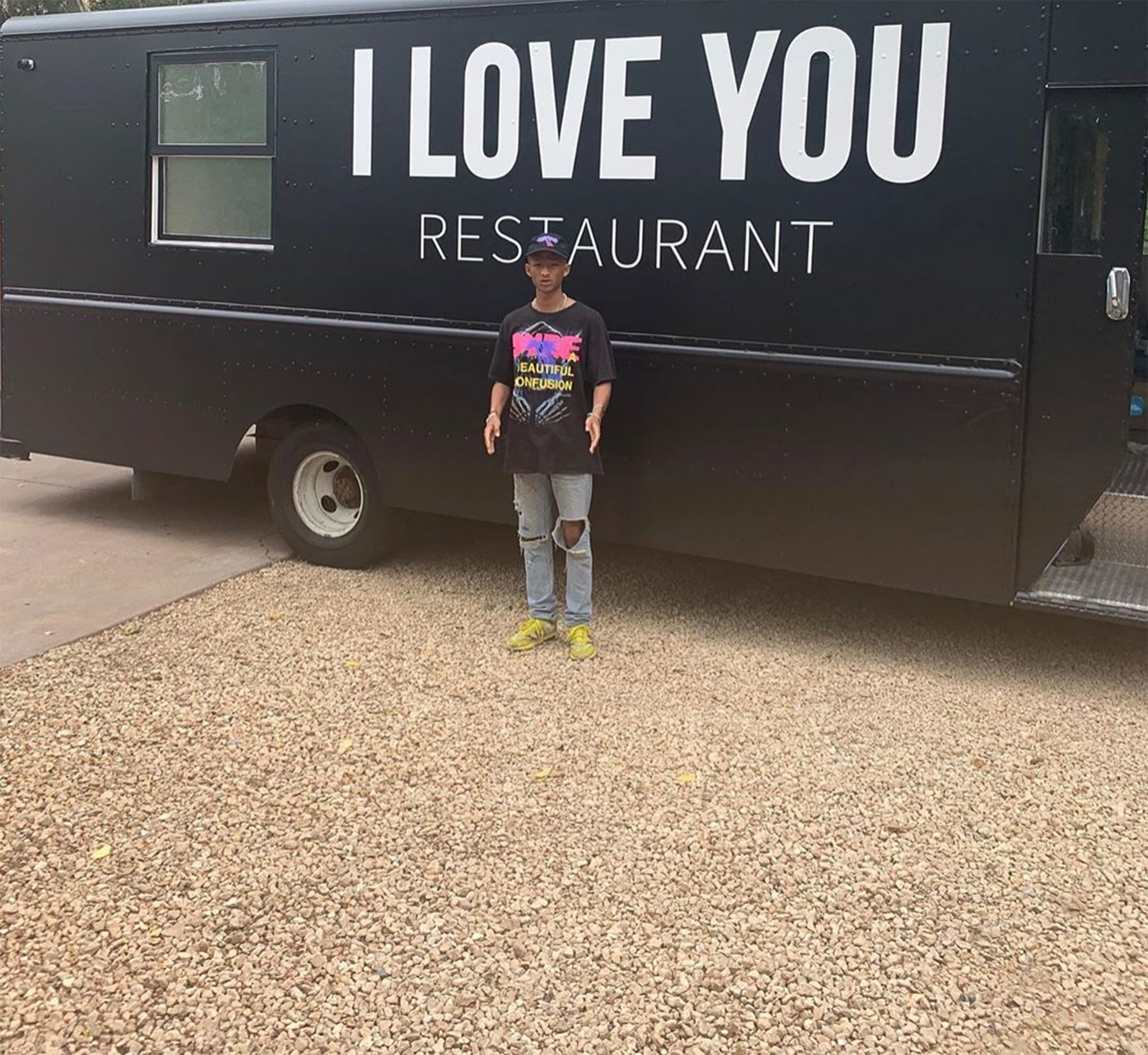 Jaden Smith free vegan food truck