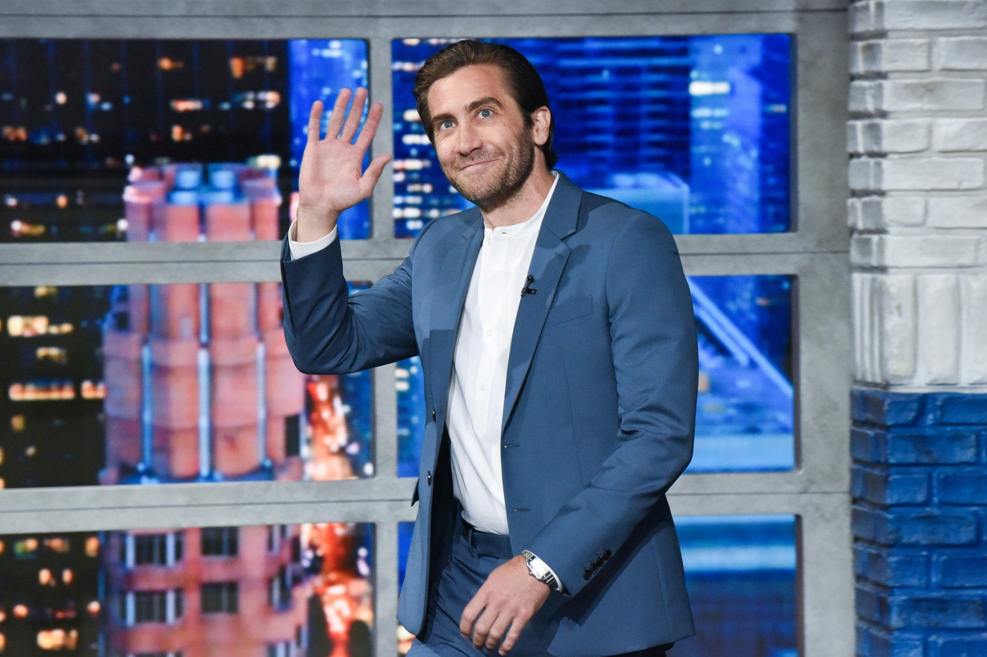 The Late Show with Stephen Colbert and guest Jake Gyllenhaal