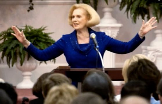 Jane Whaley founder of Word of Faith cult.Credit: Lucky8 Production