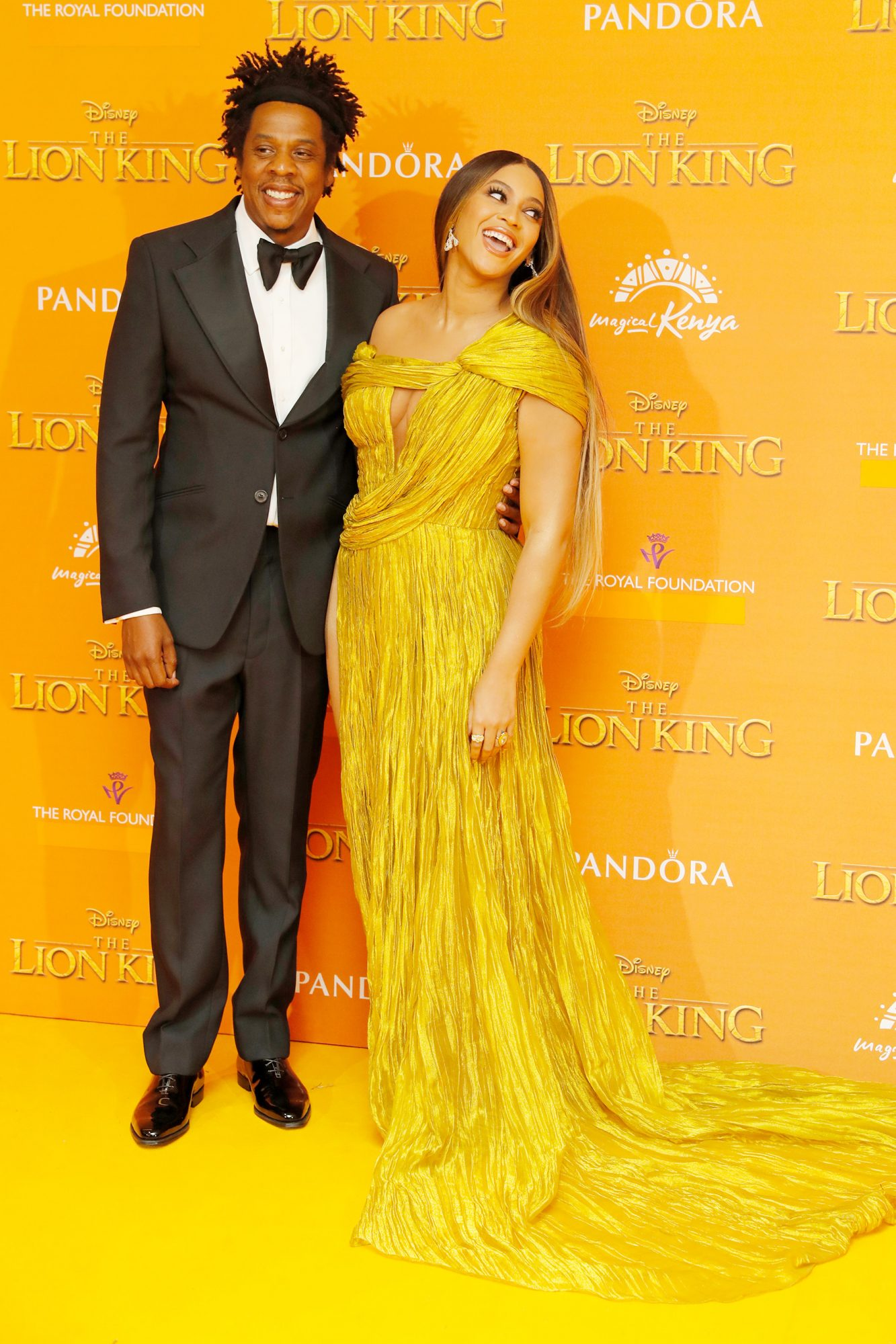 Jay Z (L) and Beyonce Knowles