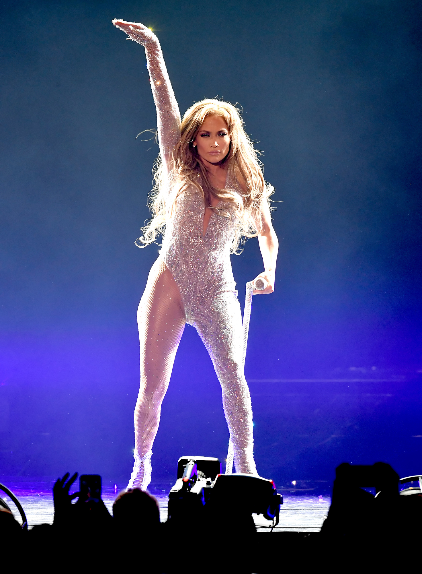 Jennifer Lopez performs onstage during the It's My Party Tour