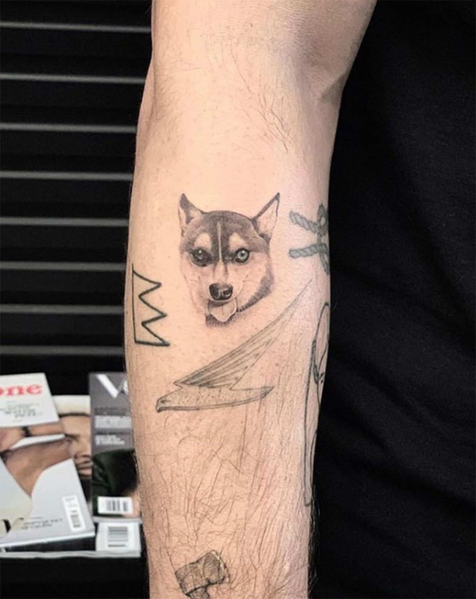 Joe Jonas and Sophie Turner dog tattoos