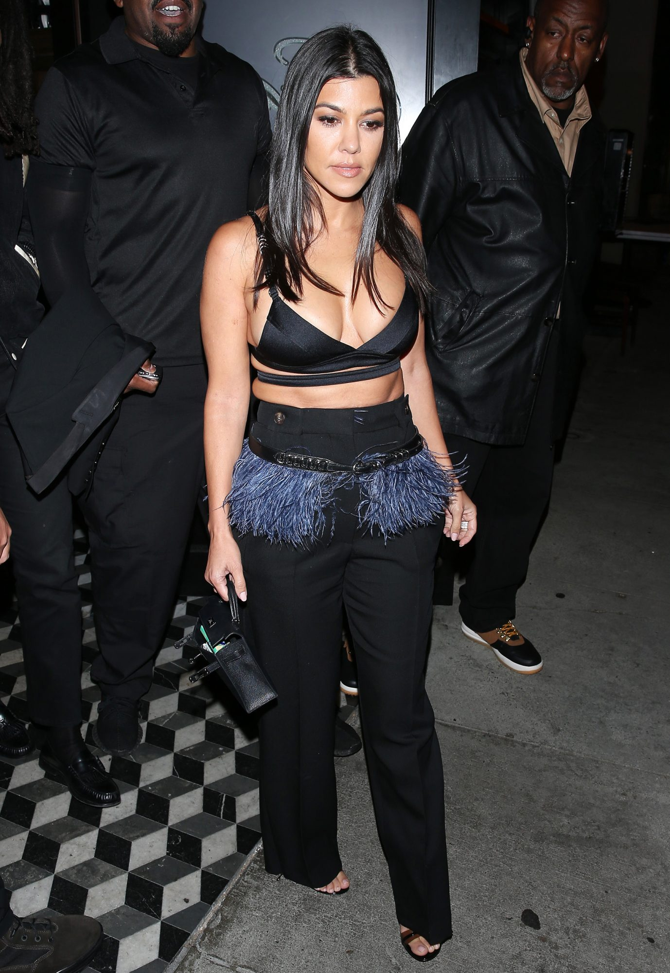 Kourtney Kardashian leaves dinner at 'Craigs' with Ex Luka Subbat and Model Winnie Harlow in West Hollywood, CA. 11 Jul 2019