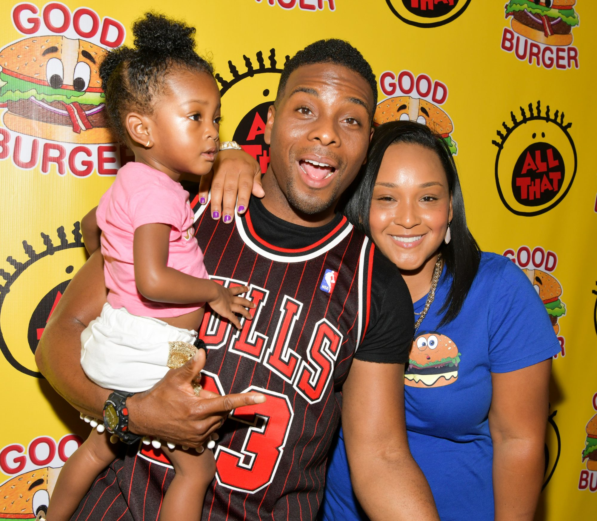 Kel Mitchell, wife Asia Lee, and daughter Wisdom Mitchell