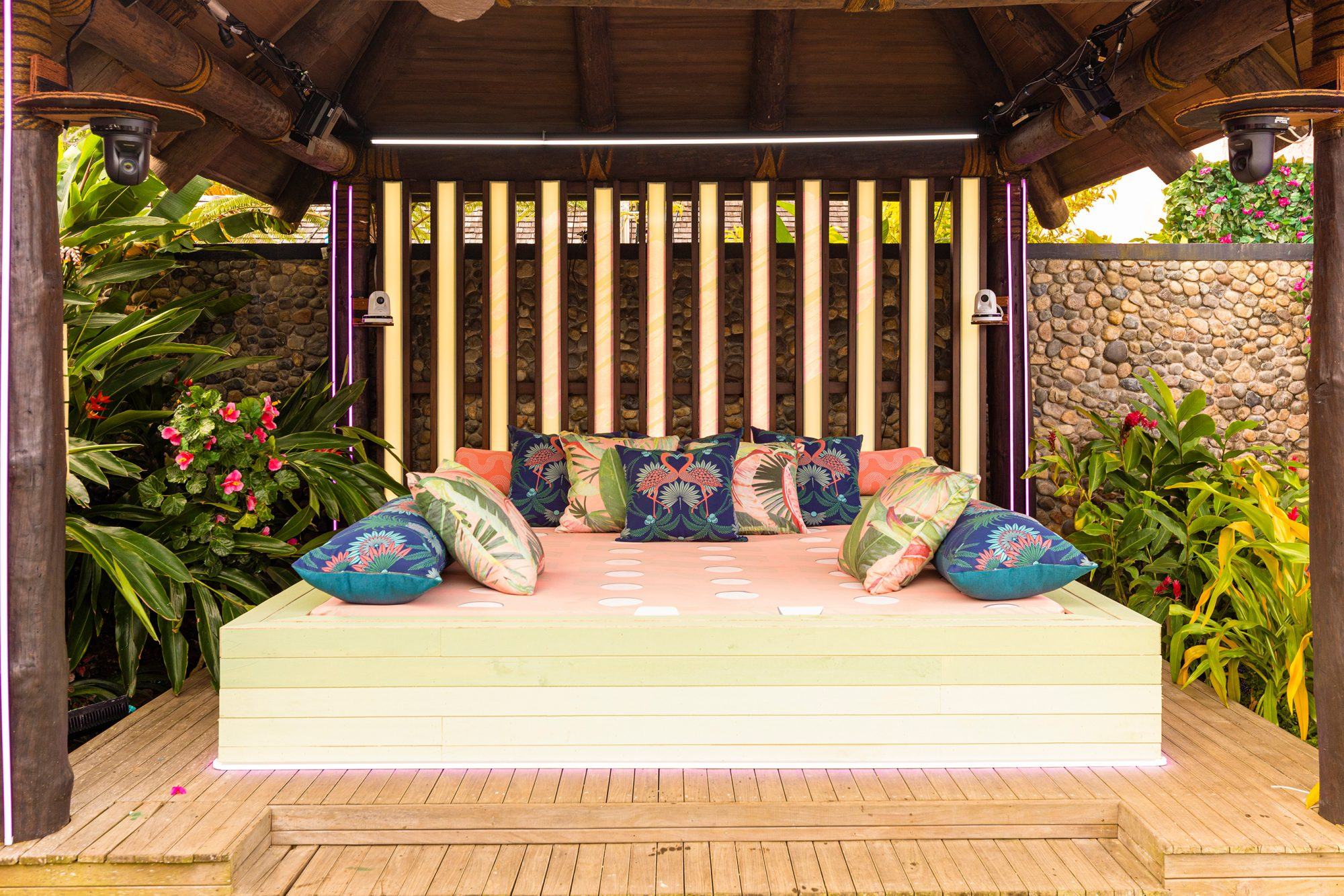 LOVE ISLAND's stunning Fijian Villa that the Islanders will call home this summer. Islanders can spend a special night in the hideaway designed by Jonathan Adler, lounge on the patio by the pool or get ready for a date in the dressing room that overlooks the ocean.