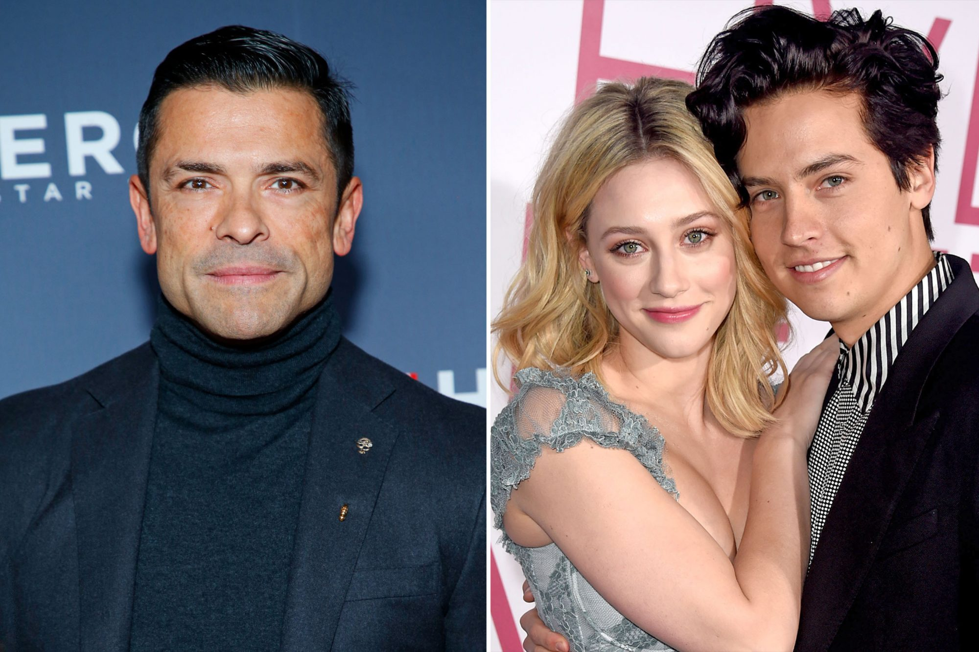 Mark Consuelos & Lili Reinhart and Cole Sprouse