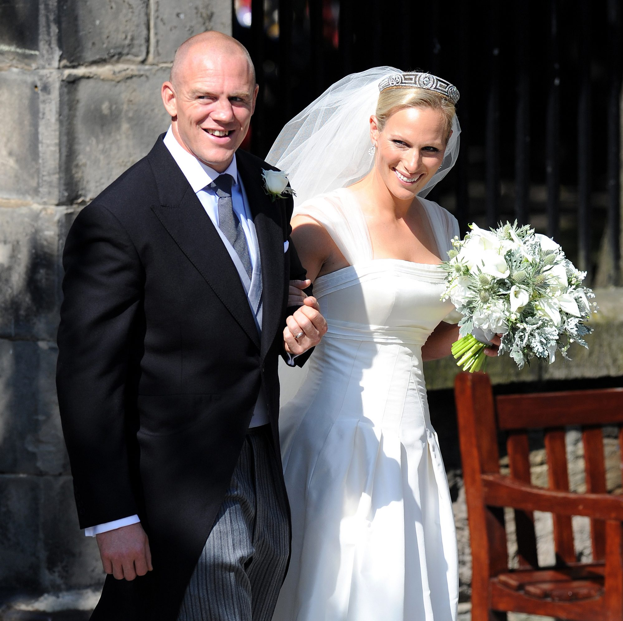Zara Mike Tindall wedding
