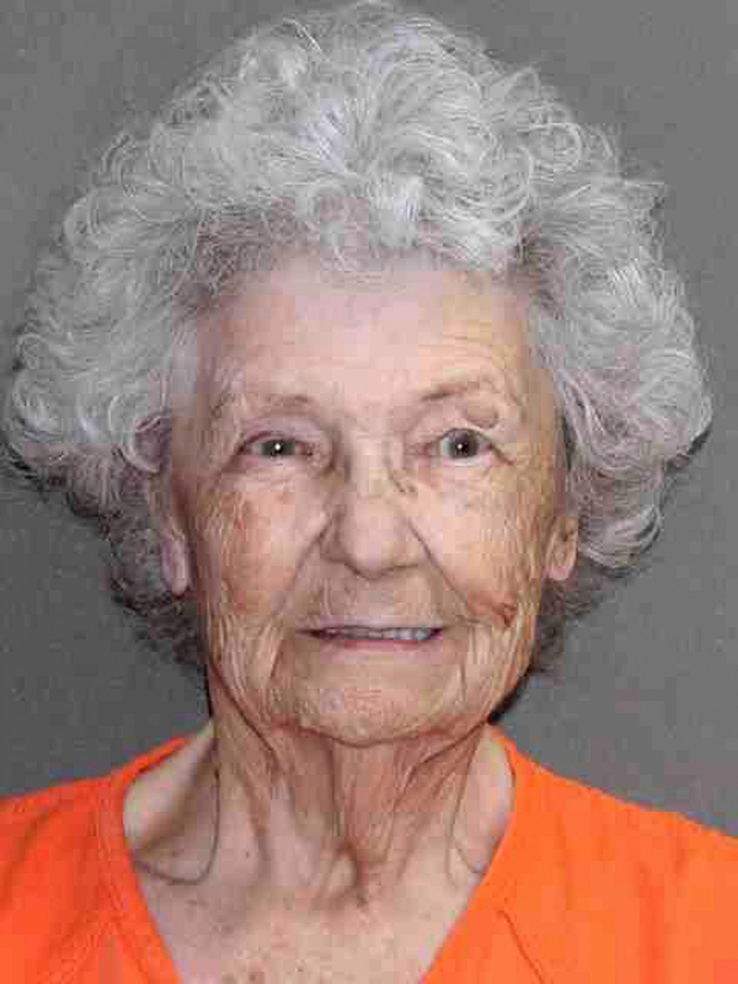 In this undated booking photo provided, by the Leon County, Texas, Sheriff's Office is 84-year-old Norma Allbritton. Allbritton was arrested July 1 on a murder charge in the 1984 shooting death of her husband Cold Case Texas Slaying - 10 Jul 2019