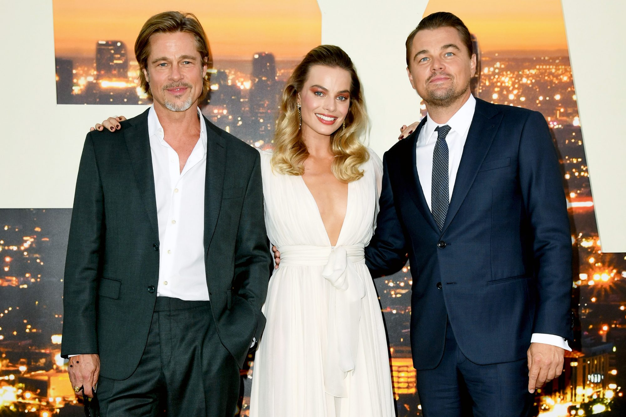 Brad Pitt, Margot Robbie and Leonardo DiCaprio