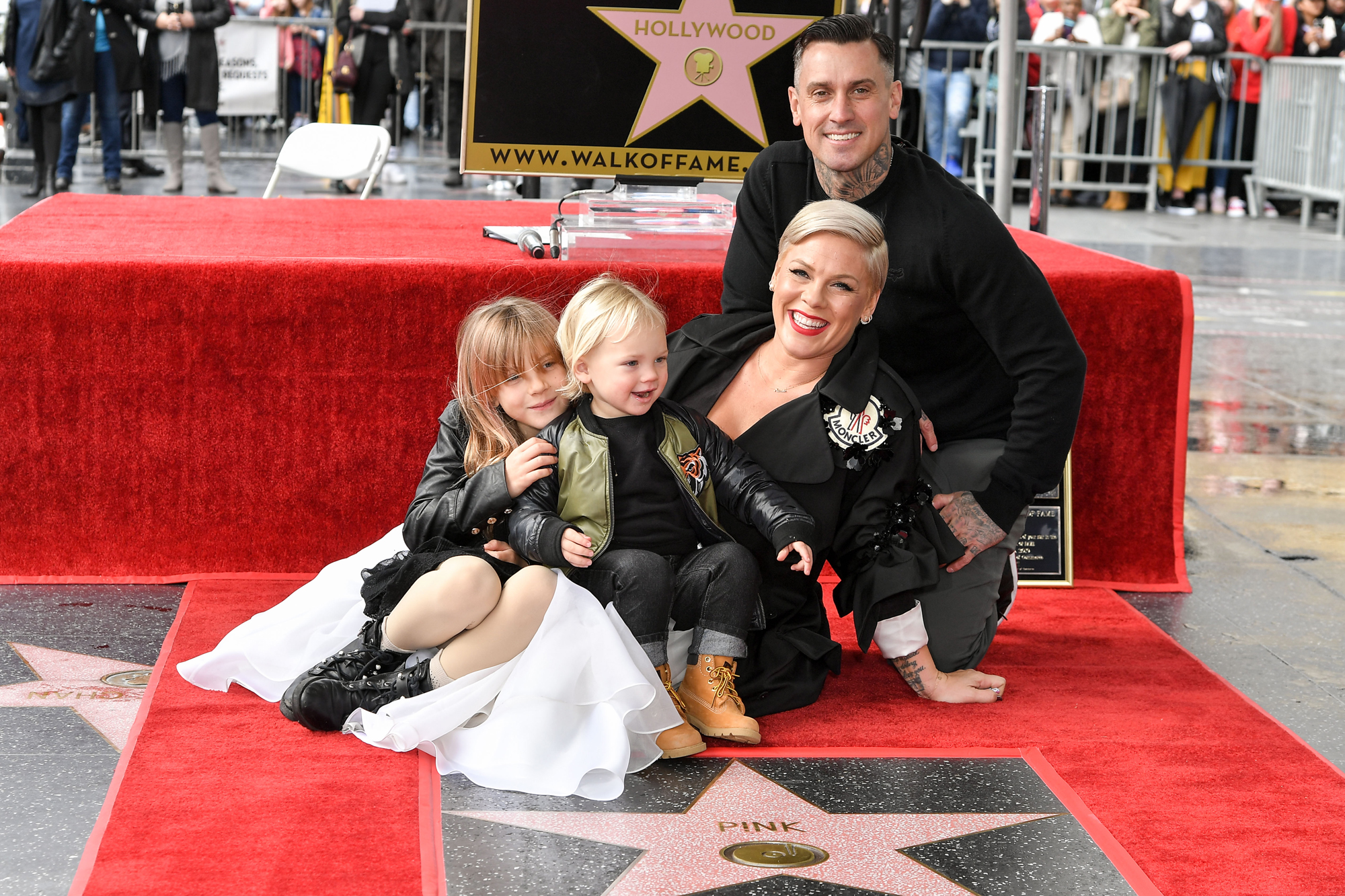 Willow Sage Hart, Jameson Hart, Pink and Carey Hart