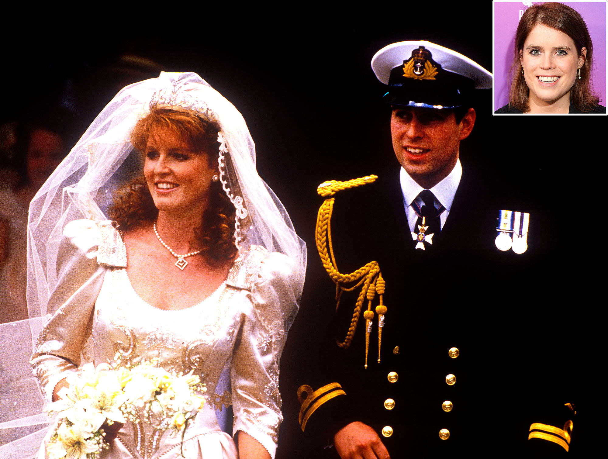 f Prince Andrew, Duke of York, and Sarah Ferguson and Princess Eugenie