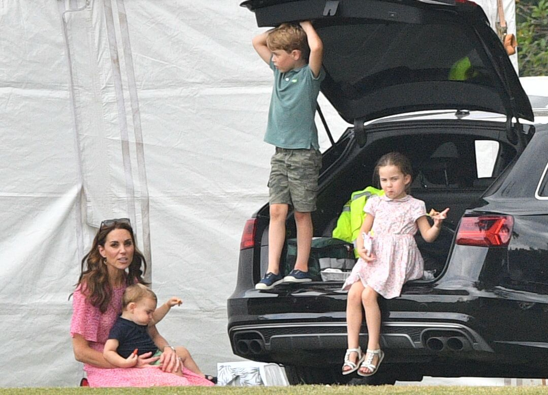 Catherine Duchess of Cambridge, Prince Louis, Prince George, Princess Charlotte
