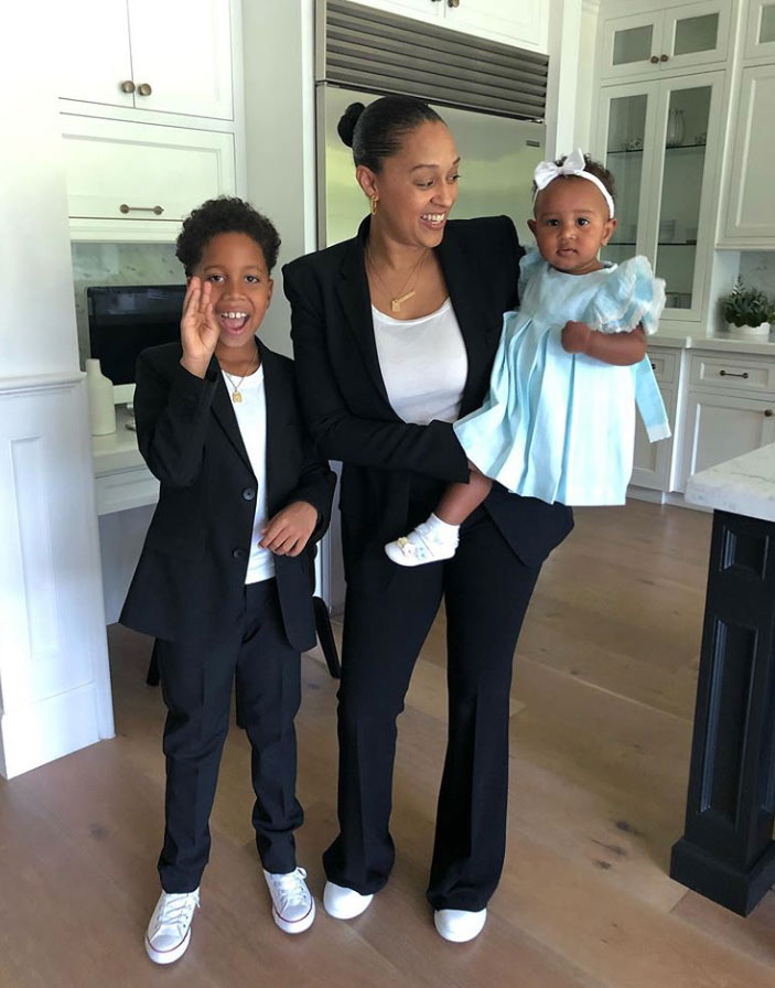 Tia Mowry and her kids