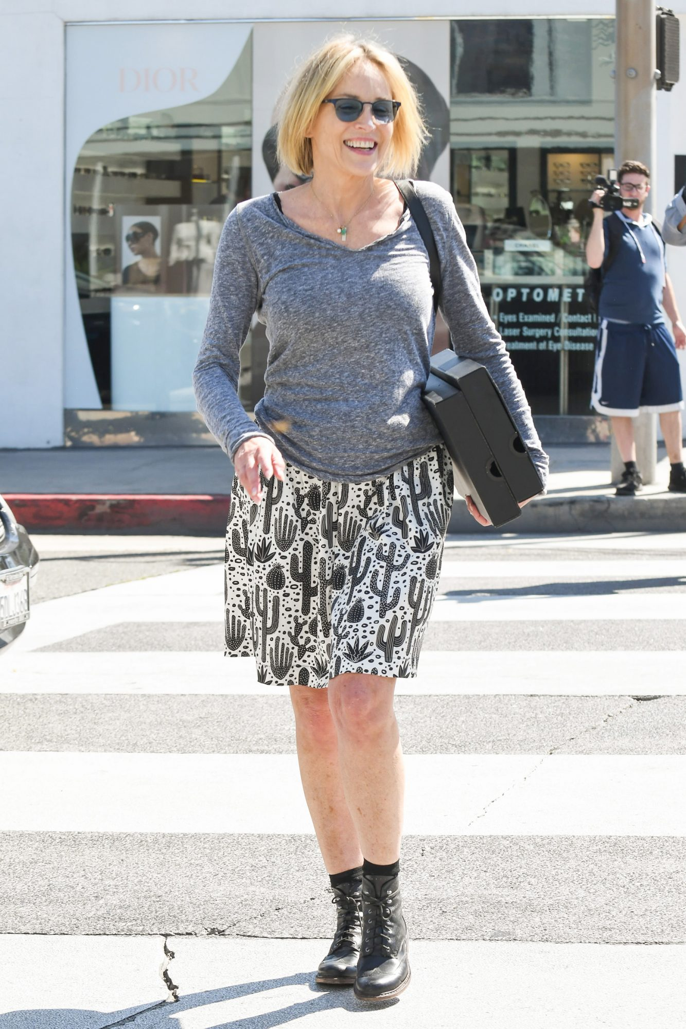Sharon Stone Out And About