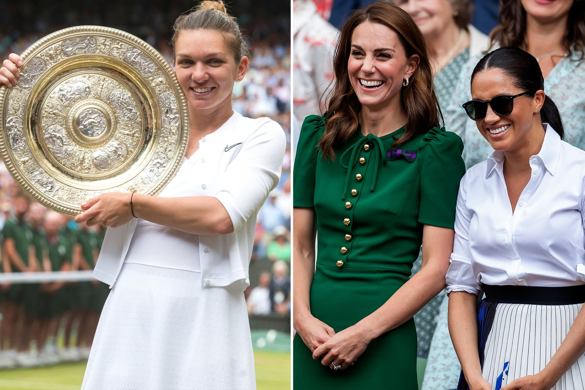 Simona Halep &Catherine Duchess of Cambridge and Meghan Duchess of Sussex