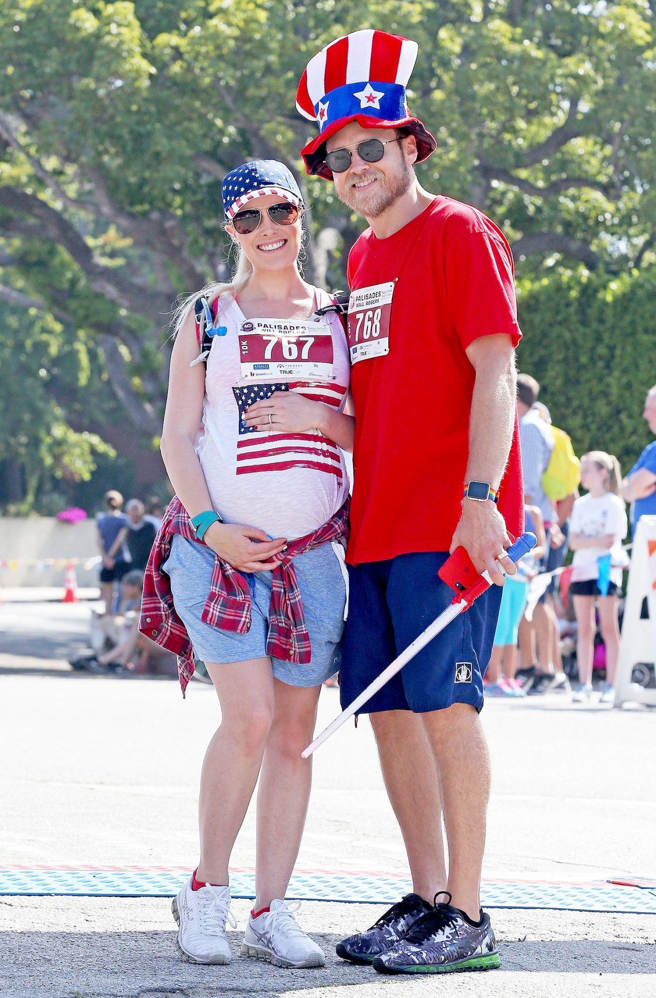 *EXCLUSIVE* Pregnant Heidi Montag and Spencer Pratt show off their American Pride on the 4th of July