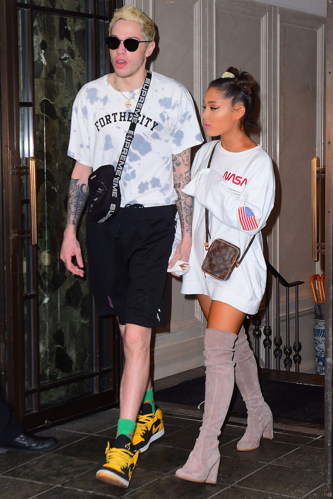 EXCLUSIVE: Ariana Grande Shows Off her Natural Hair during Casual Outing with Pete Davidson