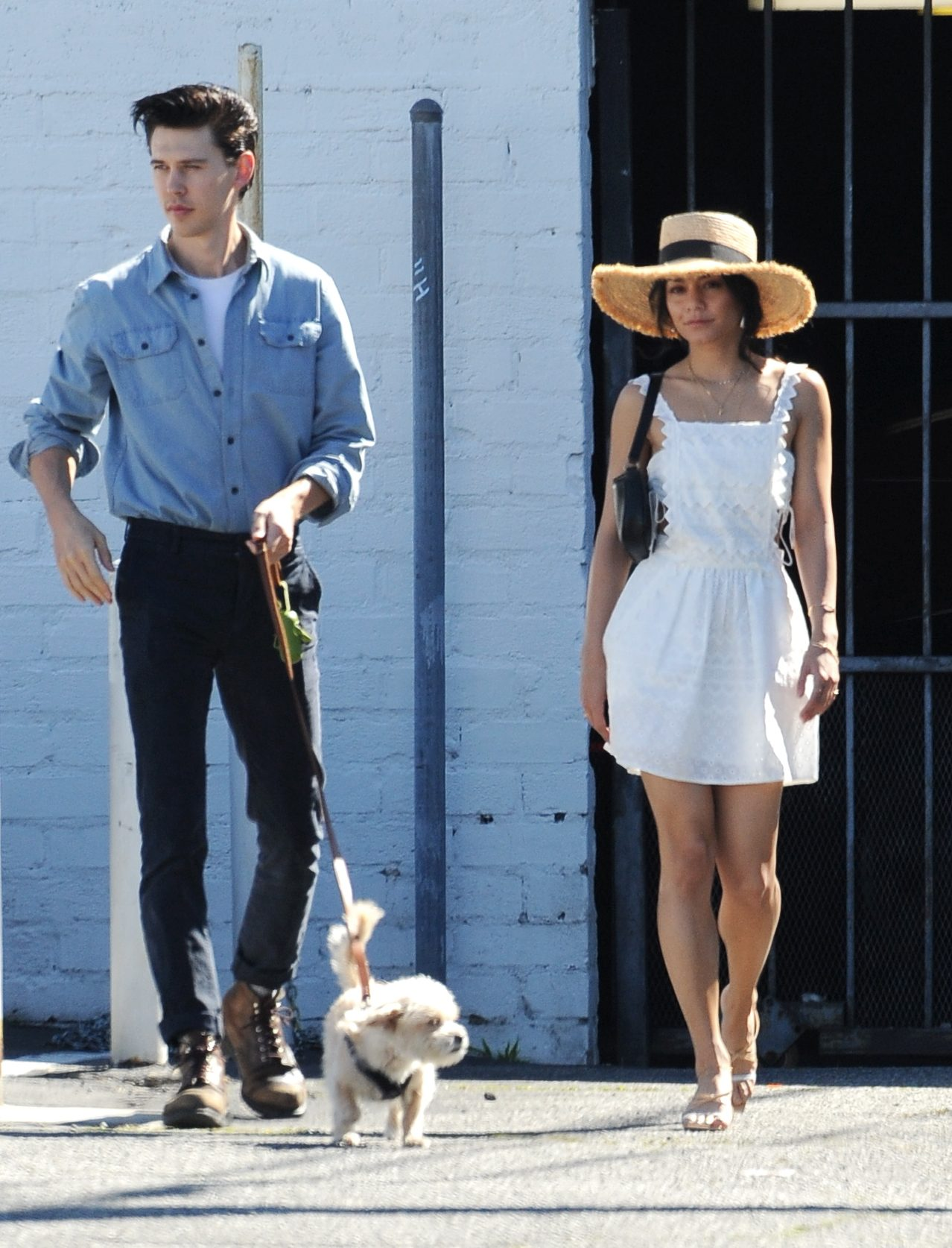 EXCLUSIVE: Vanessa Hudgens and Austin Butler Step out for Lunch with their Pooch