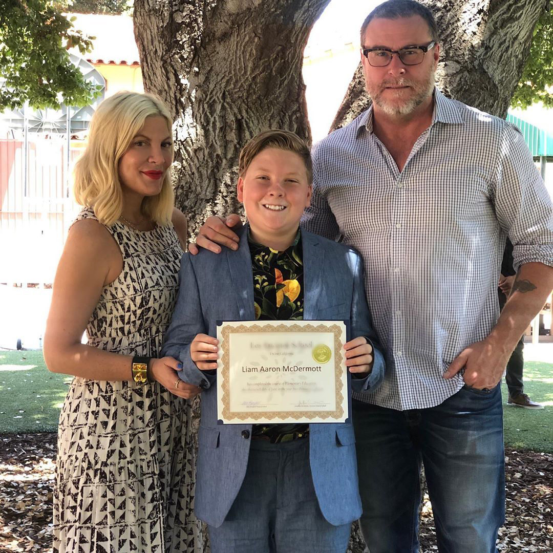Tori Spelling's son Liam graduated from school
