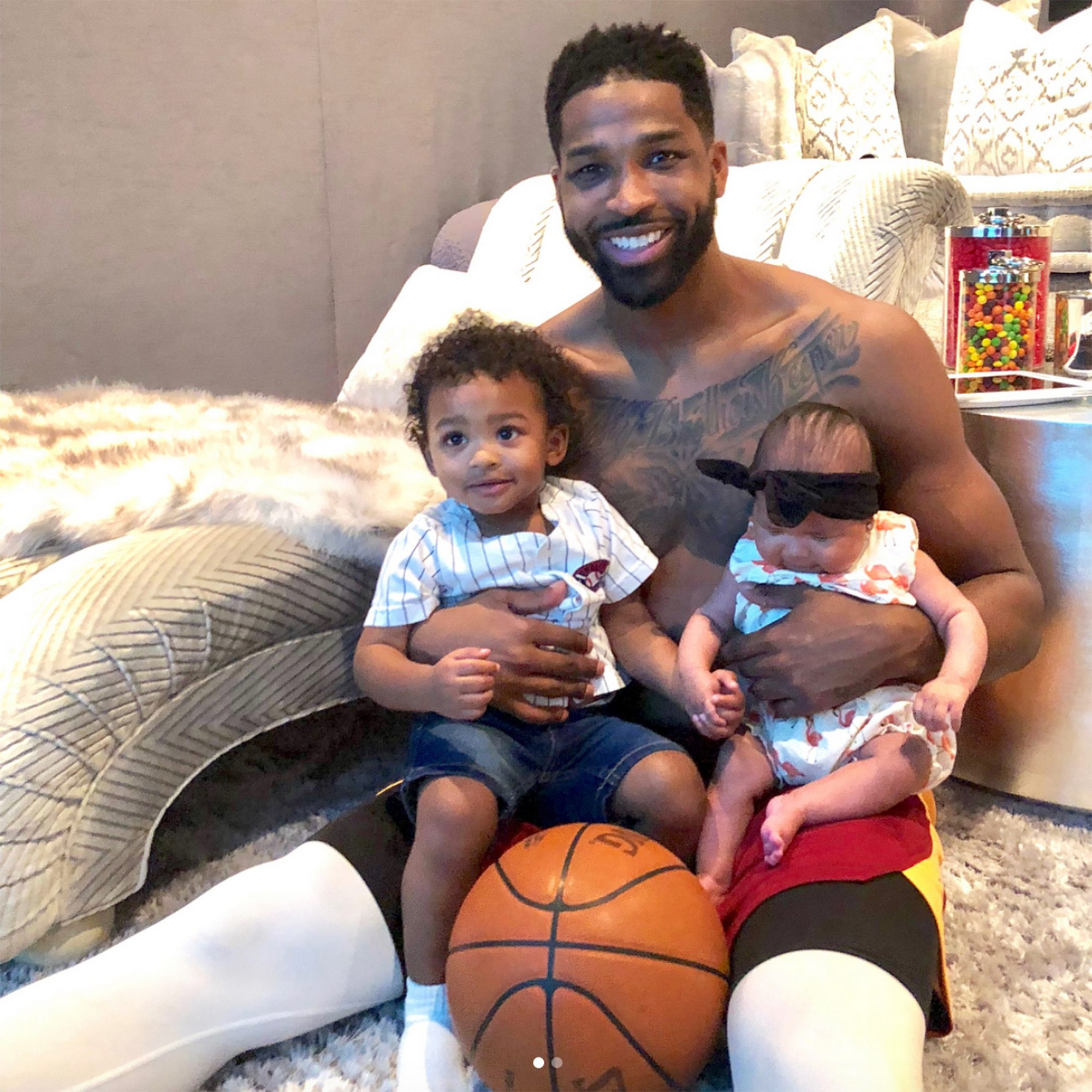 Tristan Thompson Shares First Photos of Son Prince and Daughter True | PEOPLE.com